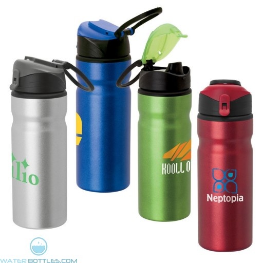 Personalized Logo Water Bottles - Imprinted Aluminum Water Bottle | 24 oz