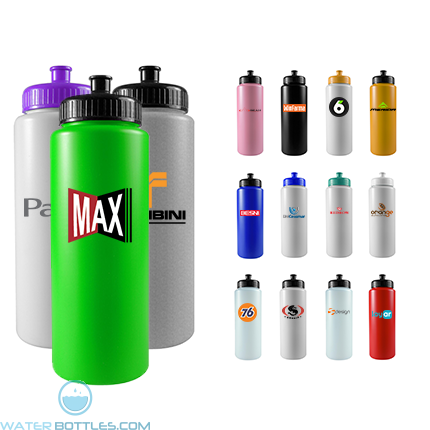 Personalized Sports Water Bottles - Sports Quart - 32 oz Sports Bottles Colors