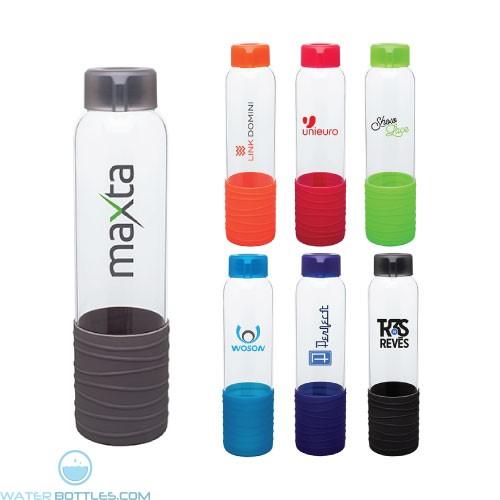 Custom Water Bottles - 20 oz H2Go Oasis Glass Water Bottle