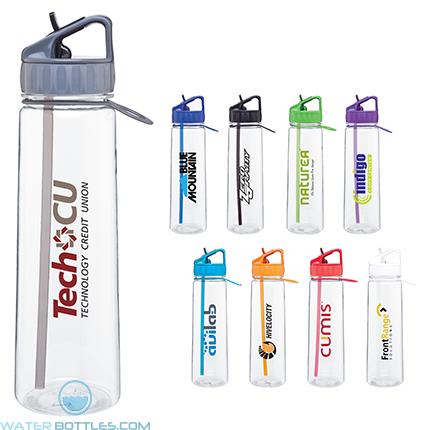 Custom Water Bottles - H2Go Angle Tritan Water Bottles   30 oz