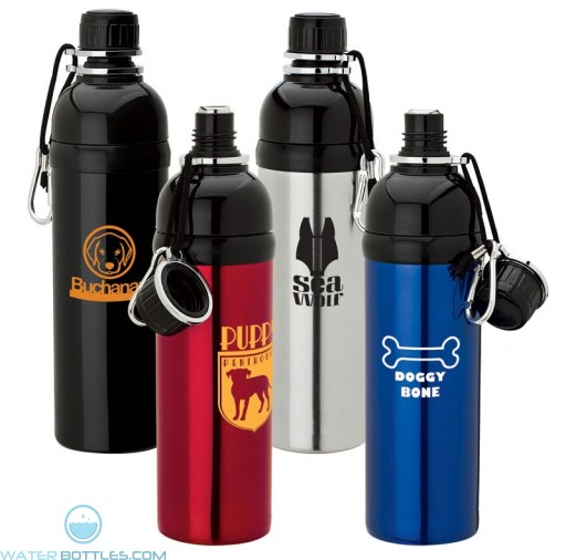 Personalized Stainless Steel Bottles - Branded Steel Bottle for Pets | 24 oz