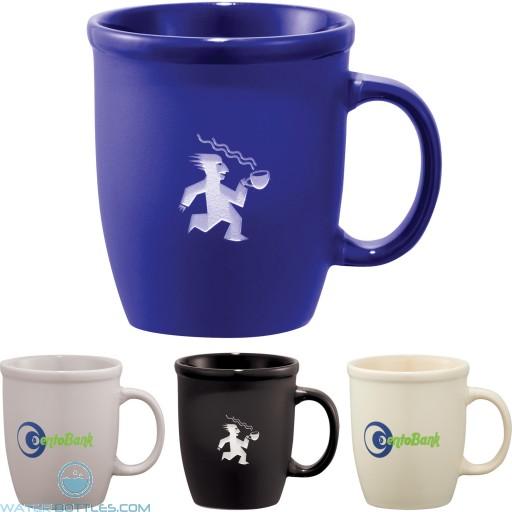 Custom Logo Mugs - Cafe Au Lait Ceramic Mug | 12 oz