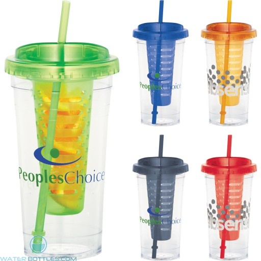 Promotional Tumblers - Personalized Fruit Infuser Tumbler | 24 oz