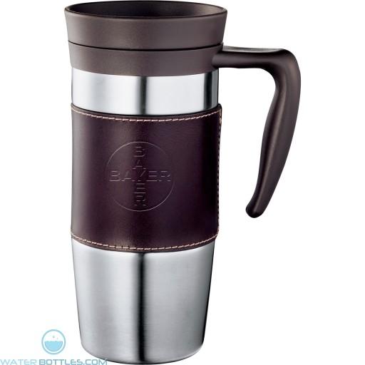 Promotional Mugs - Cutter & Buck American Classic Leather Mug   14 oz