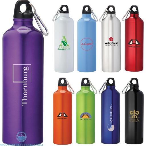 Personalized Sports Water Bottles - Pacific Aluminum Sports Bottles | 26 oz