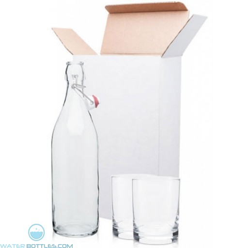 H2go Giara/Old Fashioned Glass Gift Set