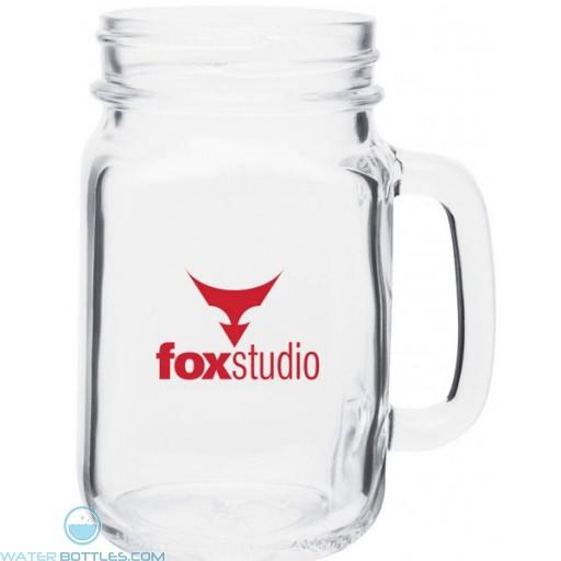 Mason Glass Mug   16 oz