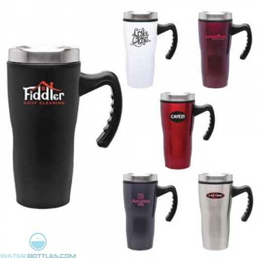 Double Wall Stainless Steel Stealth Mug | 16 oz