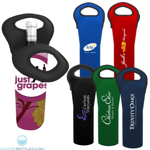 Personalized Water Bottles - Neoprene Wine Bottle Holder