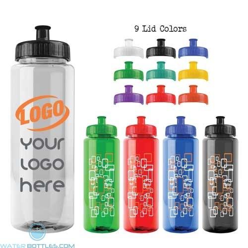 32 oz Guzzler Transparent Water Bottle