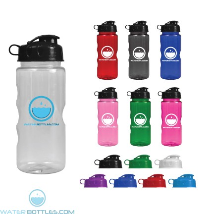 Wholesale Water Bottles - Mini Mountain - 22 oz. Tritan Bottles - Flip Lid