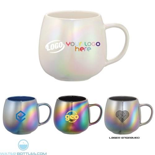 de9859309ac 15 oz Iridescent Ceramic Mug | beer | Custom Coffee Mugs