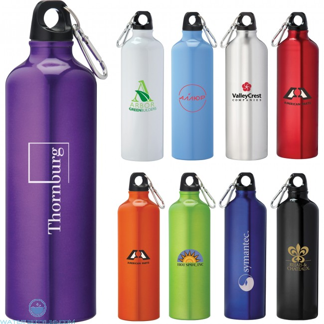 Personalized Sports Water Bottles Pacific Aluminum 26 Oz