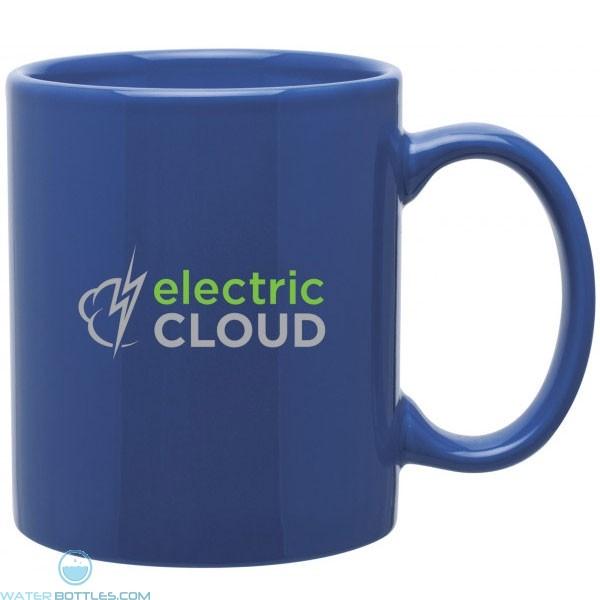 Glossy C Handle Ceramic Mug 11 Oz