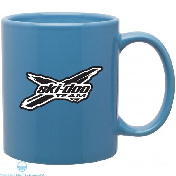 Blue 11 Oz Custom Logo Glossy Mug C Handle Jpg