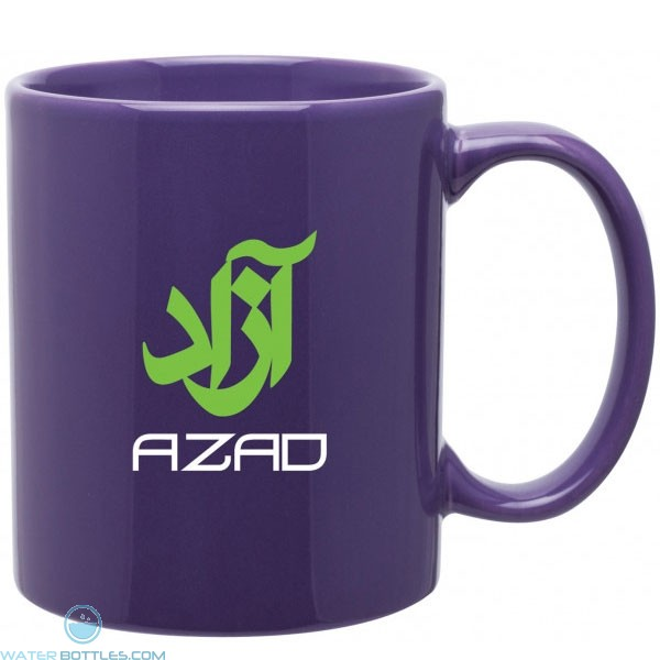 Purple 11 Oz Custom Logo Glossy Mug C Handle Jpg